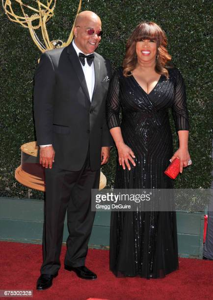 Kym Whitley and brother arrive at the 44th Annual Daytime Emmy Awards at Pasadena Civic Auditorium on April 30 2017 in Pasadena California