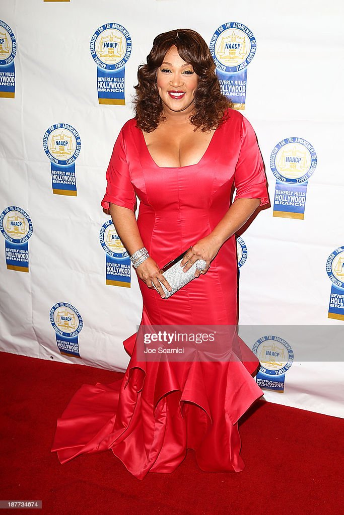 Kym Whitley arrives at the 23rd annual NAACP Theatre Awards at Saban Theatre on November 11, 2013 in Beverly Hills, California.