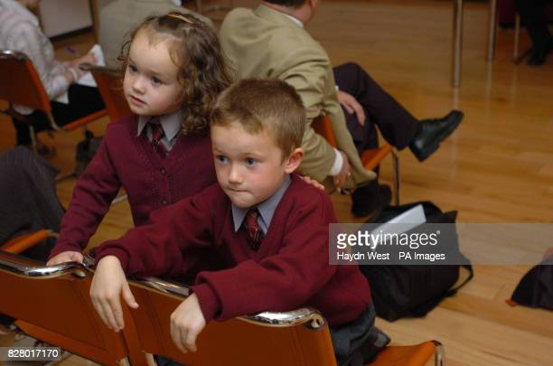 Kyna and Liam Clifford at the launch of a Labour Party document entitled 'Back To School Financial Burden on Families' at Ely Place Dublin