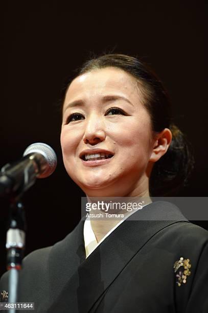 Kyoka Suzuki attends the Mainichi Film Awards at Muza Kawasaki on February 10 2015 in Kawasaki Japan