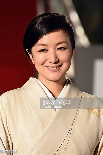 Kyoka Suzuki of Japan arrives at the opening ceremony during the 27th Tokyo International Film Festival at Roppongi Hills on October 23 2014 in Tokyo...