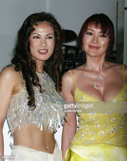 Kyoko Kano and Mika Kano attend the premiere for 'The Matrix Reloaded' May 26 2003 in Tokyo Japan