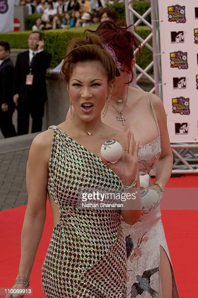 Kyoko Kano during MTV Video Music Awards Japan 2005 Red Carpet at Tokyo Bay NK Hall in Urayasu Japan