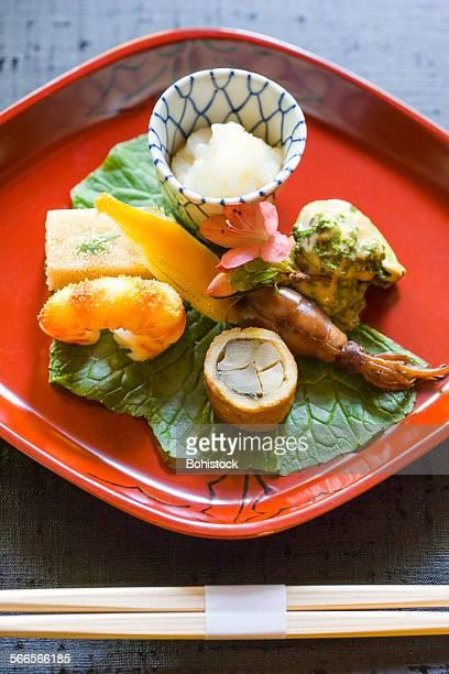Kyoto style kaiseki dish