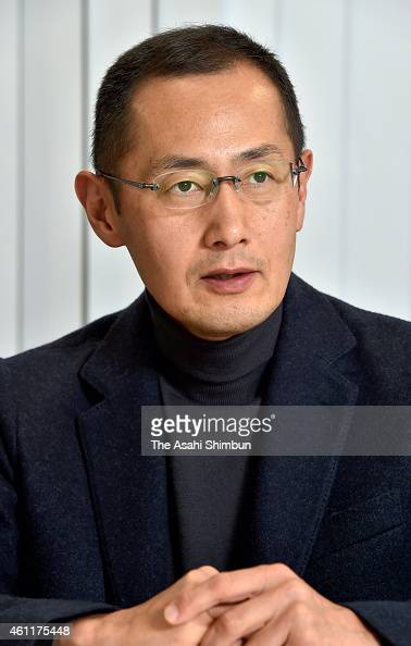 Kyoto University professor and 2012 Nobel Prize in Medicine laureate Shinya Yamanaka speaks during the Asahi Shimbun interview on December 22 2014 in...
