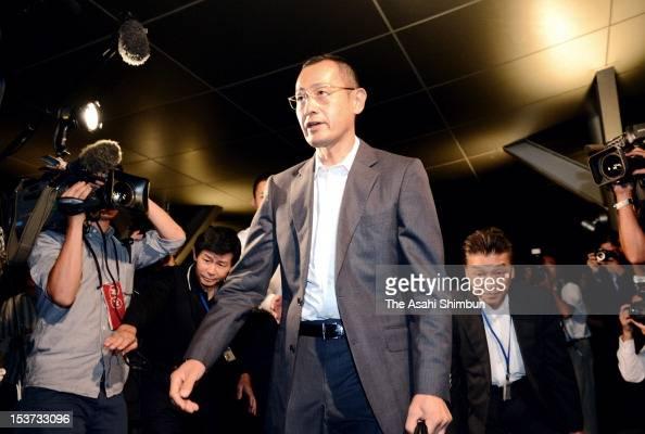 Kyoto University Professor Shinya Yamanaka is seen upon arrival at Kyoto University on October 8 2012 in Kyoto Japan Yamanaka and Sir John Gurdon of...