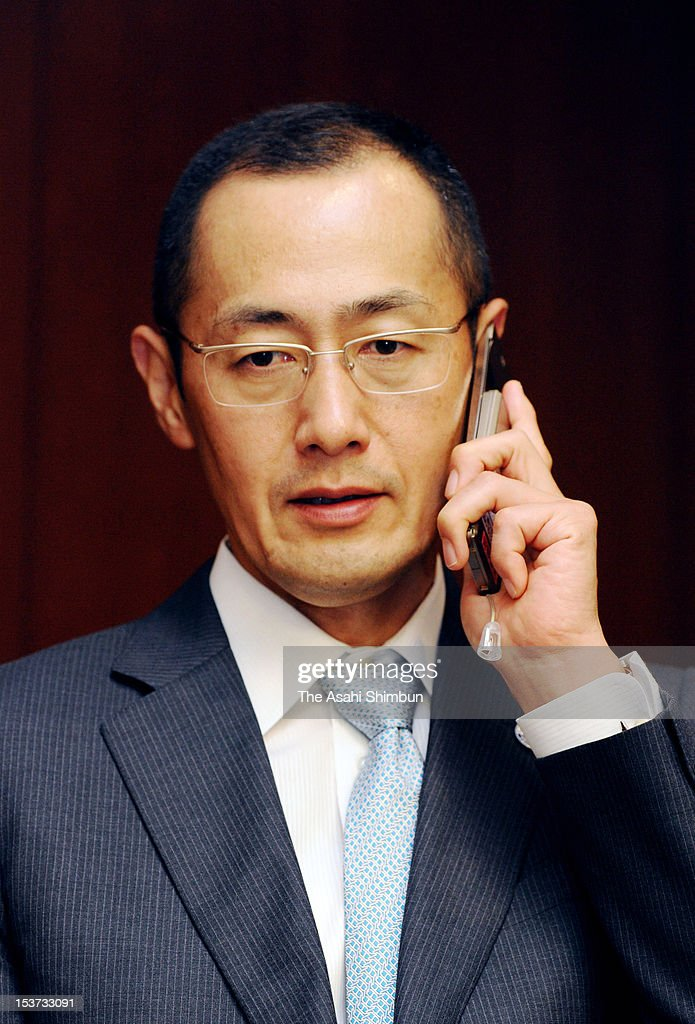Kyoto University Professor Shinya Yamanaka speaks during a conference call at Kyoto University on October 8 2012 in Kyoto Japan Yamanaka and Sir John...
