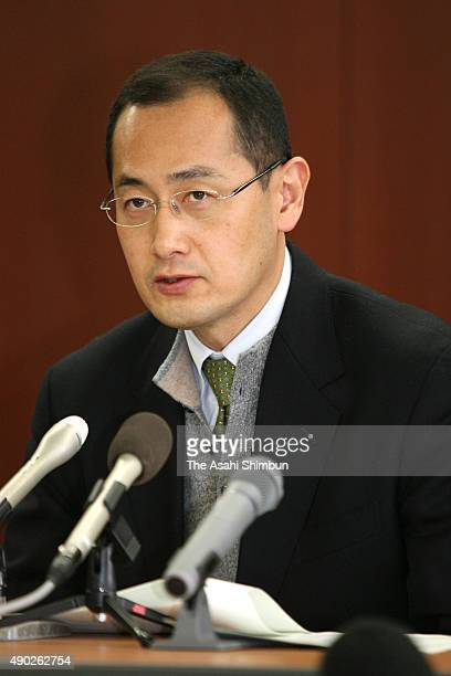 Kyoto University professor Shinya Yamanaka speaks during a press conference on the opening of the Center for iPS Cell Research and Application at...