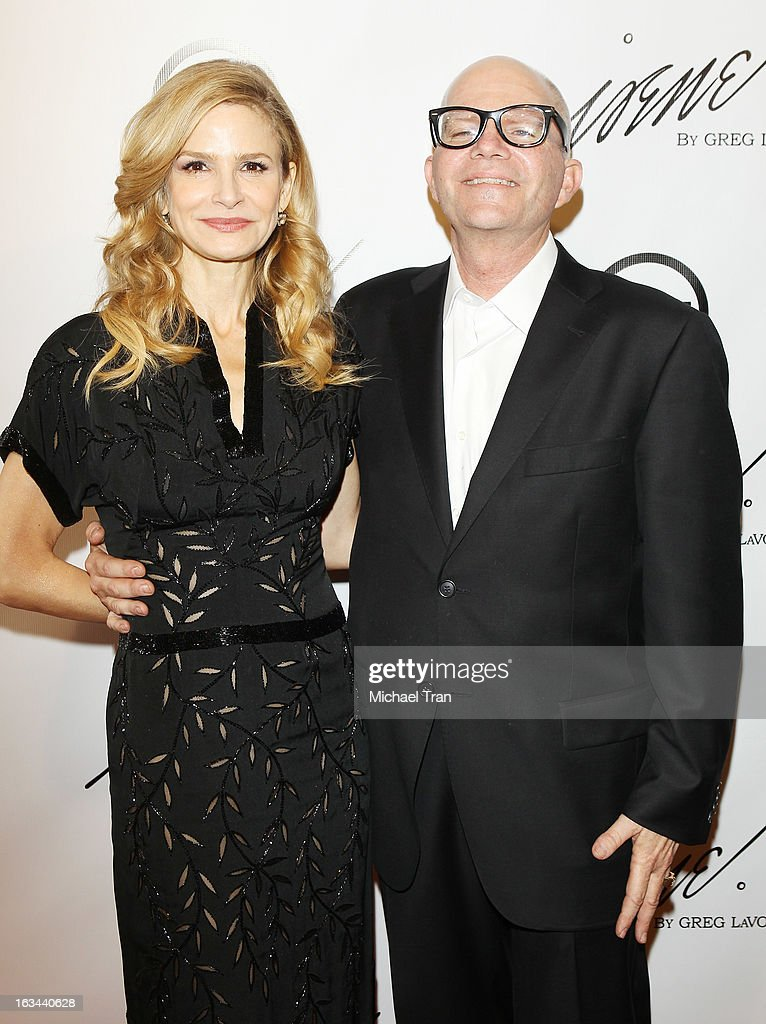 <a gi-track='captionPersonalityLinkClicked' href=/galleries/search?phrase=Kyra+Sedgwick&family=editorial&specificpeople=202514 ng-click='$event.stopPropagation()'>Kyra Sedgwick</a> (L) and Greg LaVoi arrive at the 2013 Los Angeles Fashion Week - The House Of Irene Autumn/Winter 2013 fashion show held at Raleigh Studios on March 9, 2013 in Los Angeles, California.