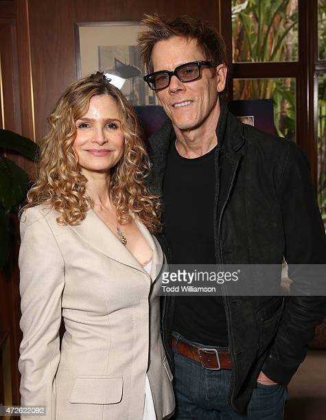 Kyra Sedgwick and Kevin Bacon attend A Luncheon In Celebration Of 'I'll See You In My Dreams' at Sunset Tower Hotel on May 8 2015 in West Hollywood...