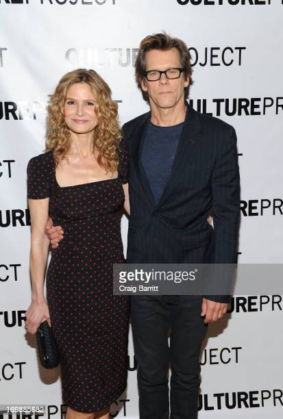 Kyra Sedgwick and Kevin Bacon attend the 2013 Culture Project Gala at Stage 48 on June 3 2013 in New York City