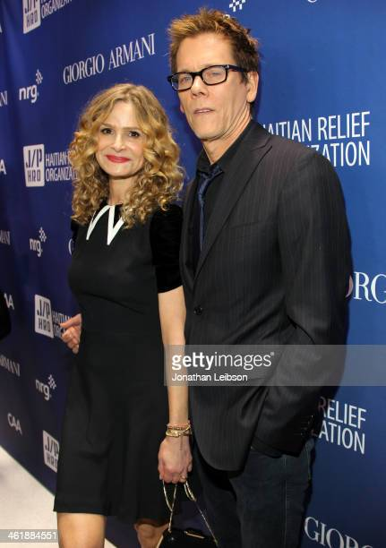 Kyra Sedgwick and Kevin Bacon attend the 3rd annual Sean Penn Friends HELP HAITI HOME Gala benefiting J/P HRO presented by Giorgio Armani at Montage...