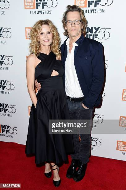 Kyra Sedgwick and Kevin Bacon attend the 55th New York Film Festival presentation of 'Joan Didion The Center Will Not Hold' at Alice Tully Hall on...