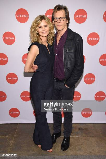 Kyra Sedgwick and Kevin Bacon attend the 'Story Of A Girl' screening at Neuehouse on July 17 2017 in New York City