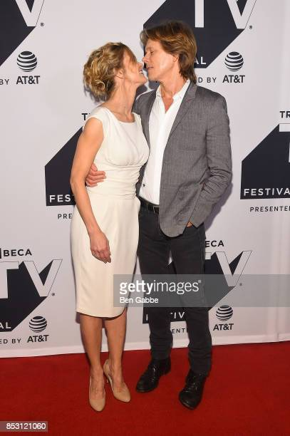 Kyra Sedgwick and Kevin Bacon attend the Tribeca TV Festival series premiere of Ten Days in the Valley at Cinepolis Chelsea on September 24 2017 in...