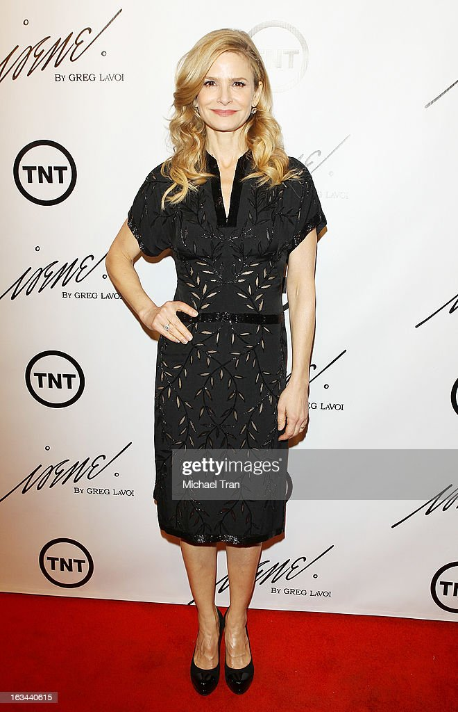 Kyra Sedgwick arrives at the 2013 Los Angeles Fashion Week - The House Of Irene Autumn/Winter 2013 fashion show held at Raleigh Studios on March 9, 2013 in Los Angeles, California.