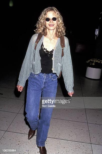 Kyra Sedgwick during Kyra Sedgwick Sighting at Los Angeles International Airport June 16 1995 at Los Angeles International Airport in Los Angeles...