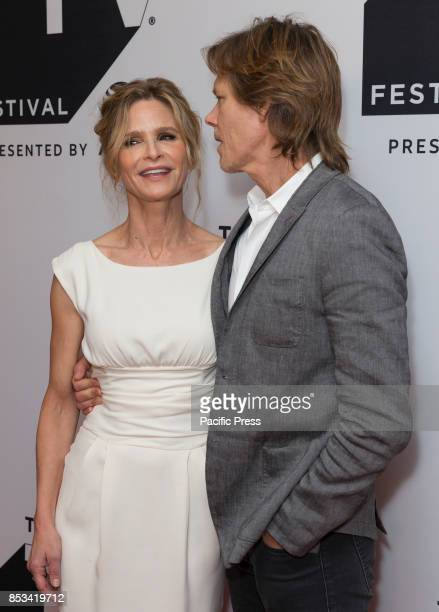 Kyra Sedgwick Kevin Bacon attend Ten Days in the Valley series premiere during Tribeca TV festival at Cinepolis Chelsea