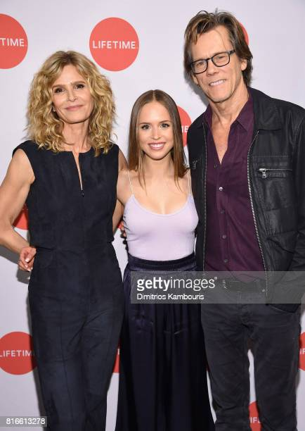 Kyra Sedgwick Ryann Shane and Kevin Bacon attend the 'Story Of A Girl' screening at Neuehouse on July 17 2017 in New York City