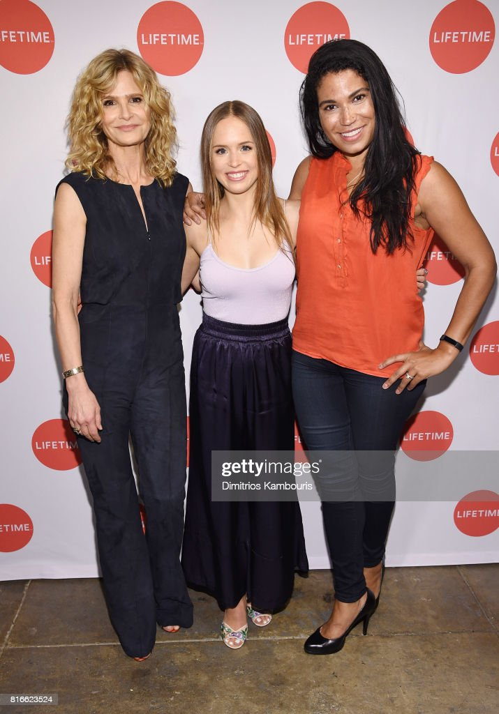 Kyra Sedgwick, Ryann Shane and Meghan Hooper White attend the 'Story Of A Girl' screening at Neuehouse on July 17, 2017 in New York City.
