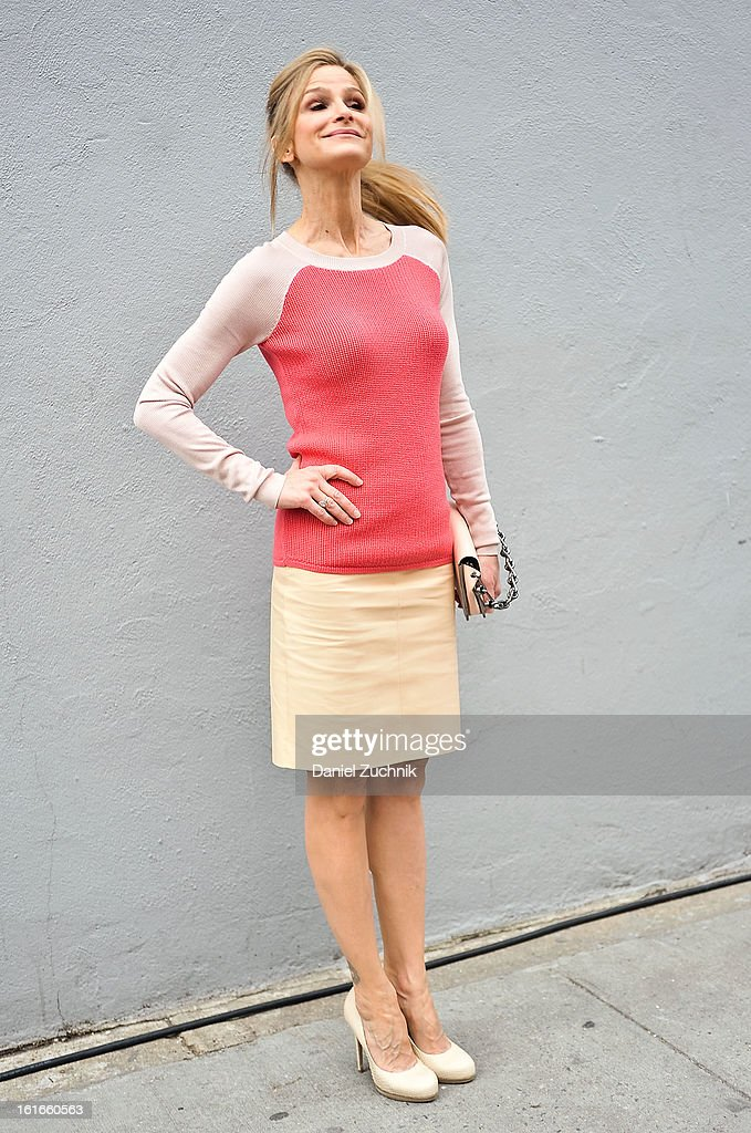 Kyra Sedgwick seen outside the Reed Krakoff show on February 13, 2013 in New York City.