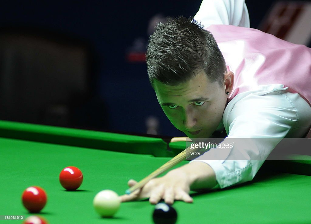 Kyren Wilson of England s on in the match against Marco Fu of China on day four of the 2013 World Snooker Shanghai Master at Shanghai Grand Stage on September 19, 2013 in Shanghai, China.