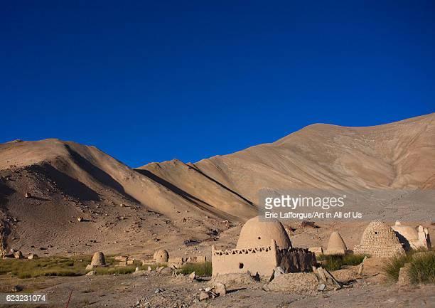 Kyrgyz tombs near Karakul lake Xinjiang Uyghur Autonomous Region China on September 22 2012 in Tashkurgan China