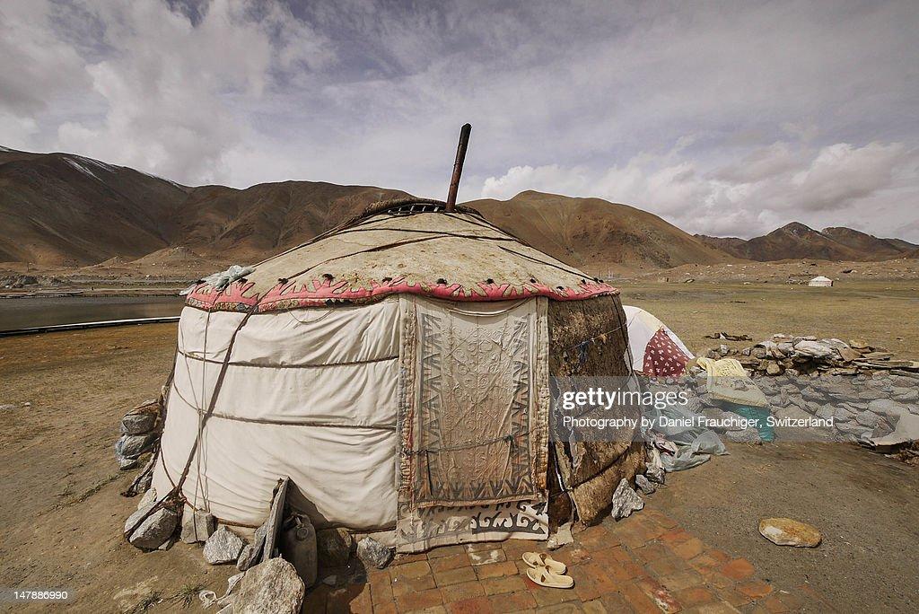 Kyrgyz yurt : Stock Photo