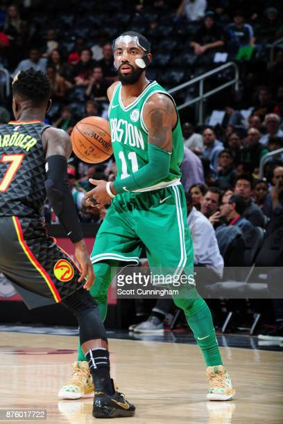 Kyrie Irving of the Boston Celtics handles the ball against the Atlanta Hawks on November 18 2017 at Philips Arena in Atlanta Georgia NOTE TO USER...