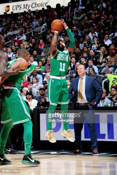 Kyrie Irving of the Boston Celtics shoots the ball against the Atlanta Hawks on November 18 2017 at Philips Arena in Atlanta Georgia NOTE TO USER...