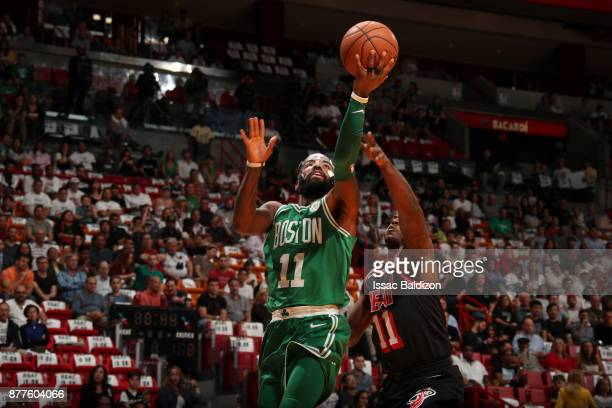 Kyrie Irving of the Boston Celtics shoots the ball against the Miami Heat on November 22 2017 at AmericanAirlines Arena in Miami Florida NOTE TO USER...