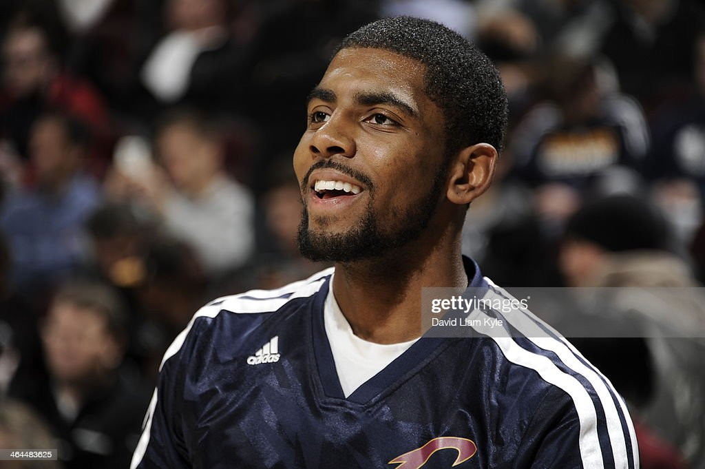 <a gi-track='captionPersonalityLinkClicked' href=/galleries/search?phrase=Kyrie+Irving&family=editorial&specificpeople=6893971 ng-click='$event.stopPropagation()'>Kyrie Irving</a> #2 of the Cleveland Cavaliers against the Miami Heat at The Quicken Loans Arena on November 27, 2013 in Cleveland, Ohio.