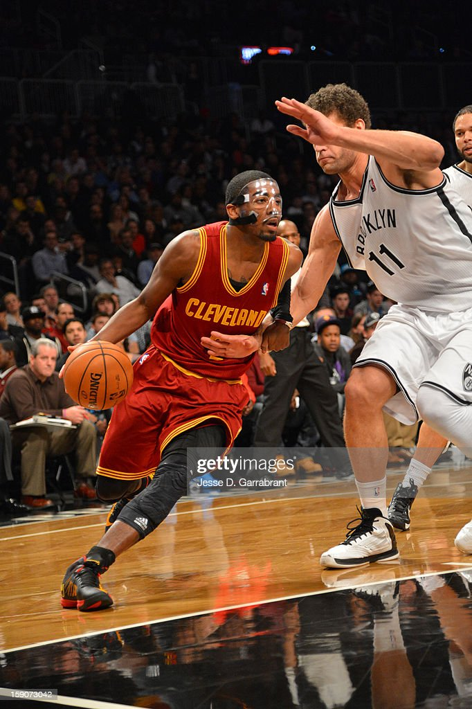 Kyrie Irving #2 of the Cleveland Cavaliers drives to the basket against the Brooklyn Nets at the Barclays Center on December 29, 2012 in Brooklyn, New York.