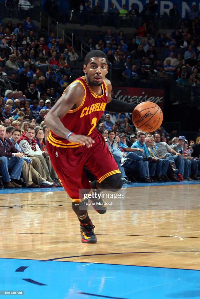 <a gi-track='captionPersonalityLinkClicked' href=/galleries/search?phrase=Kyrie+Irving&family=editorial&specificpeople=6893971 ng-click='$event.stopPropagation()'>Kyrie Irving</a> #2 of the Cleveland Cavaliers drives to the hole vs the Oklahoma City Thunder during an NBA game on November 11, 2012 at the Chesapeake Energy Arena in Oklahoma City, Oklahoma.