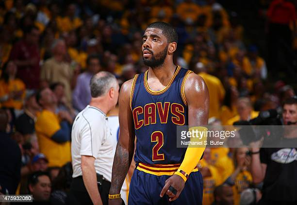 Kyrie Irving of the Cleveland Cavaliers during Game One of the 2015 NBA Finals on June 4 2015 at Oracle Arena in Oakland California NOTE TO USER User...