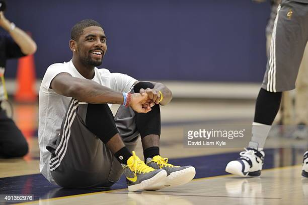 Kyrie Irving of the Cleveland Cavaliers during practice at The Cleveland Clinic Courts on October 1 2015 in Independence Ohio NOTE TO USER User...