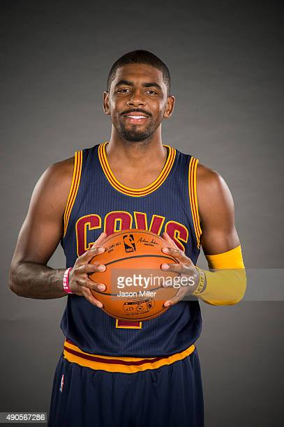 Kyrie Irving of the Cleveland Cavaliers during the Cleveland Cavaliers media day at Cleveland Clinic Courts on September 28 2015 in Independence Ohio