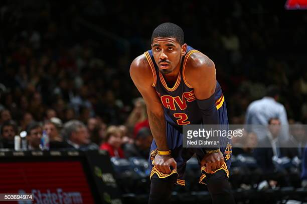 Kyrie Irving of the Cleveland Cavaliers during the game against the Washington Wizards on January 6 2016 at Verizon Center in Washington District of...