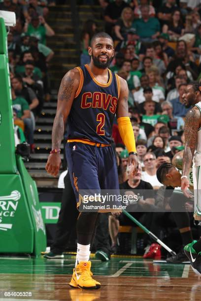 Kyrie Irving of the Cleveland Cavaliers during the game against the Boston Celtics in Game One of the Eastern Conference Finals during the 2017 NBA...
