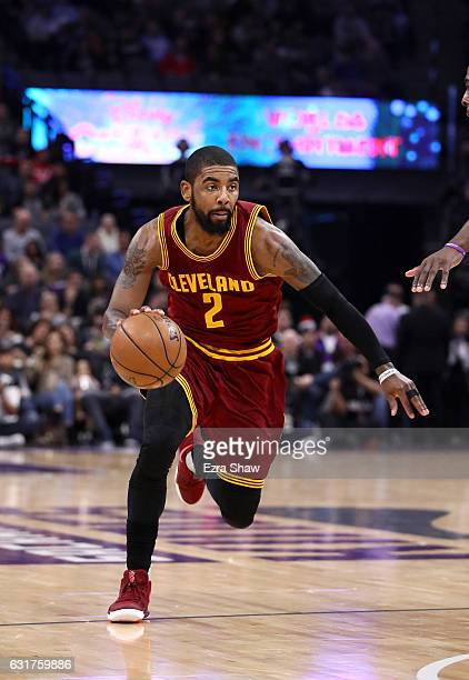 Kyrie Irving of the Cleveland Cavaliers in action against the Sacramento Kings at Golden 1 Center on January 13 2017 in Sacramento California NOTE TO...