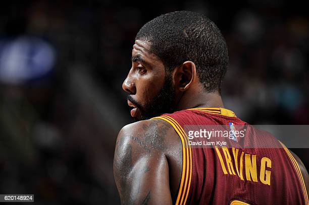 Kyrie Irving of the Cleveland Cavaliers is seen during the game against the Houston Rockets on November 1 2016 at Quicken Loans Arena in Cleveland...