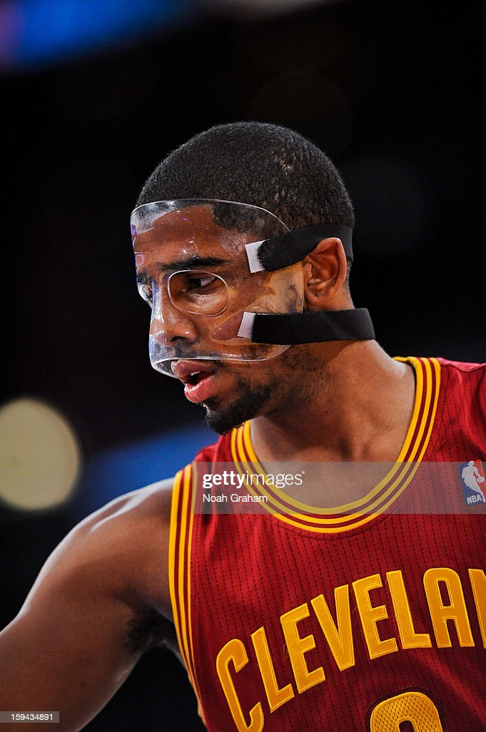Kyrie Irving #2 of the Cleveland Cavaliers looks on against the Los Angeles Lakers at Staples Center on January 13, 2013 in Los Angeles, California.
