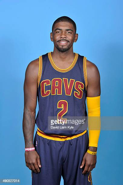 Kyrie Irving of the Cleveland Cavaliers poses for a portrait during media day at The Cleveland Clinic Courts on September 28 2015 in Independence...