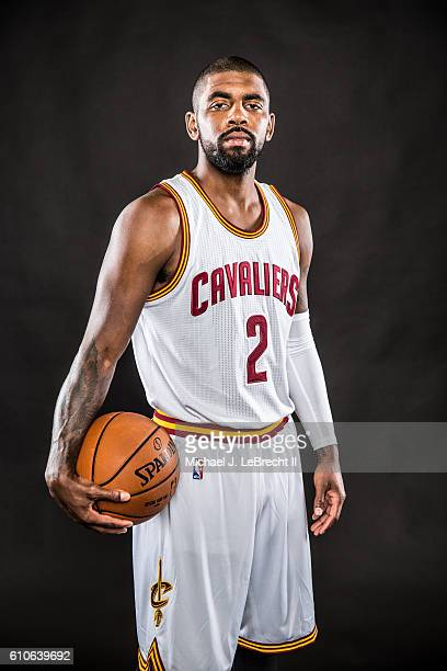 Kyrie Irving of the Cleveland Cavaliers poses for a portrait during 20162017 Cleveland Cavaliers Media Day at the Cleveland Clinic Courts on...