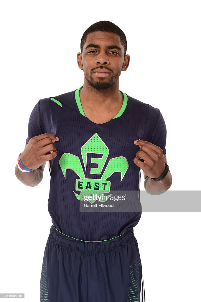 Kyrie Irving #2 of the Cleveland Cavaliers poses for a portrait in the 2014 All-Star Uniform being named a starter on January 23, 2014 at the Cleveland Clinic Courts Practice Facility in Independence, Ohio.
