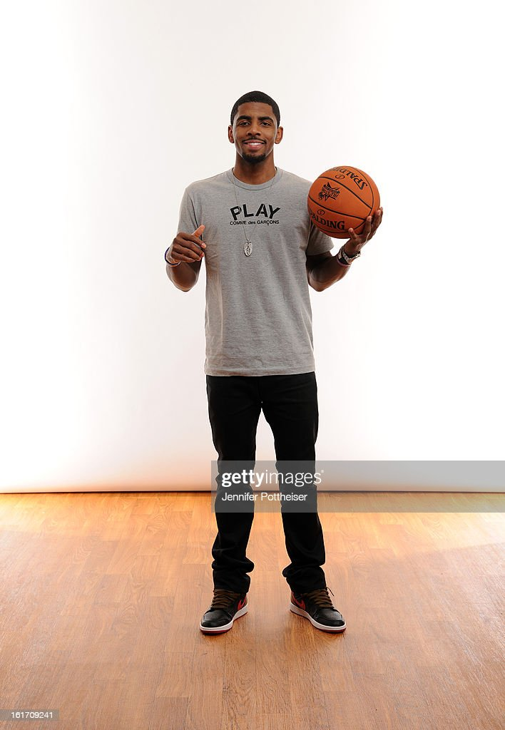 Kyrie Irving #2 of the Cleveland Cavaliers poses for portraits during the NBAE Circuit as part of 2013 All-Star Weekend at the Hilton Americas Hotel on February 14, 2012 in Houston, Texas.
