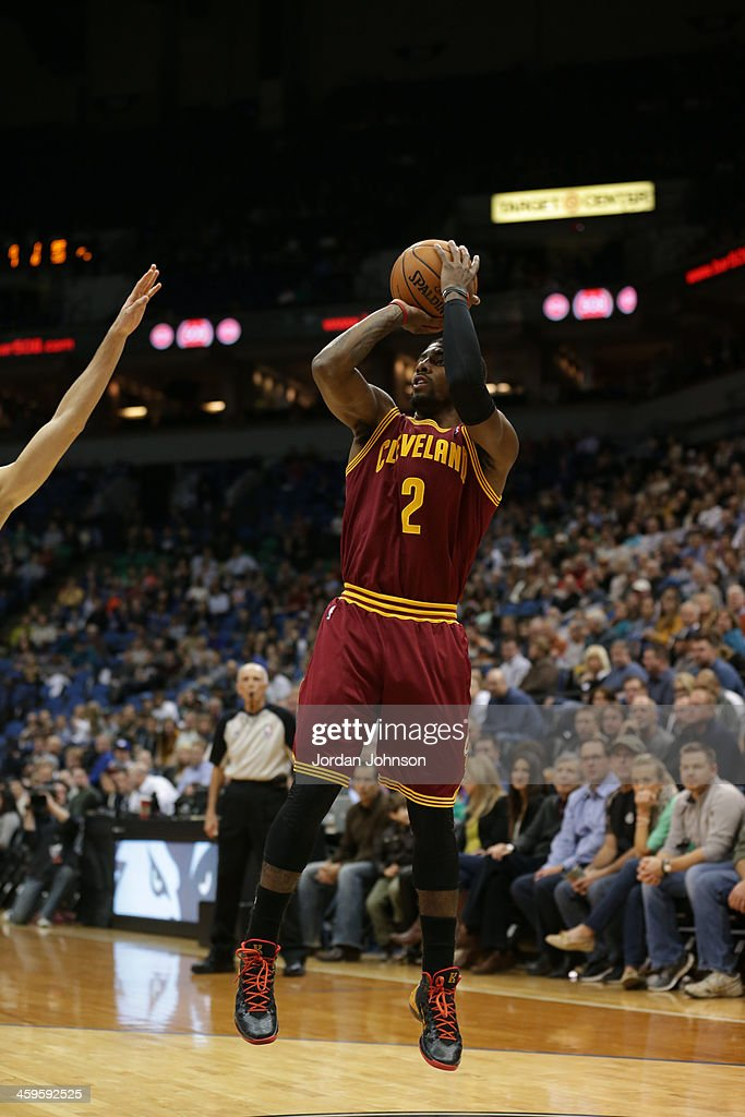 <a gi-track='captionPersonalityLinkClicked' href=/galleries/search?phrase=Kyrie+Irving&family=editorial&specificpeople=6893971 ng-click='$event.stopPropagation()'>Kyrie Irving</a> #2 of the Cleveland Cavaliers shoots the ball against the Minnesota Timberwolves on November 13, 2013 at Target Center in Minneapolis, Minnesota.
