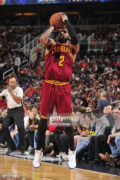 Kyrie Irving of the Cleveland Cavaliers shoots the ball against the Phoenix Suns on January 8 2017 at Talking Stick Resort Arena in Phoenix Arizona...