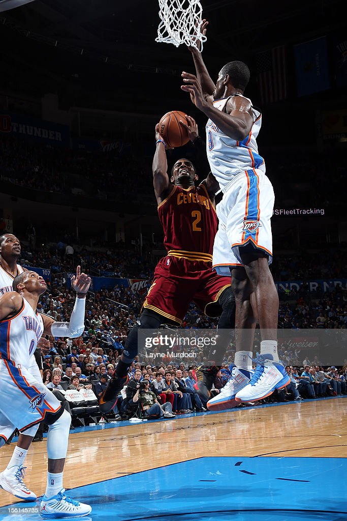 <a gi-track='captionPersonalityLinkClicked' href=/galleries/search?phrase=Kyrie+Irving&family=editorial&specificpeople=6893971 ng-click='$event.stopPropagation()'>Kyrie Irving</a> #2 of the Cleveland Cavaliers shoots the ball vs the Oklahoma City during an NBA game on November 11, 2012 at the Chesapeake Energy Arena in Oklahoma City, Oklahoma.