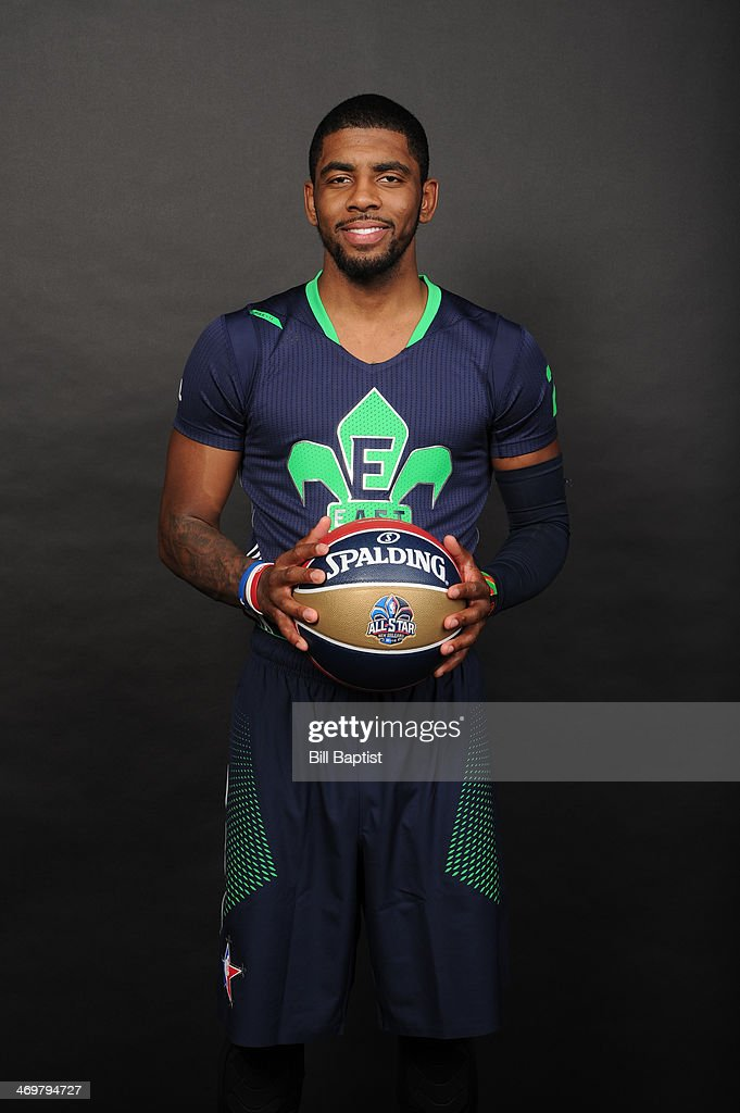 Kyrie Irving #2 of the Eastern Conference All-Stars poses for a portrait prior to the of the 2014 NBA All-Star Game on February 16, 2014 at the Smoothie King Center in New Orleans, Louisiana.